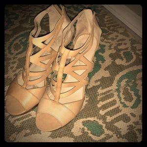 Franco Sarto peep toe pump sandals